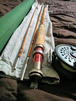 Hand made bamboo fly rod with preloaded reel