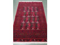 Authentic Afghan Rug - Hand Made with 100% Wool - 190 x 126cm
