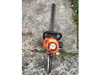 Stihl hs 45 hedge trimmer and stihl replica chainsaw