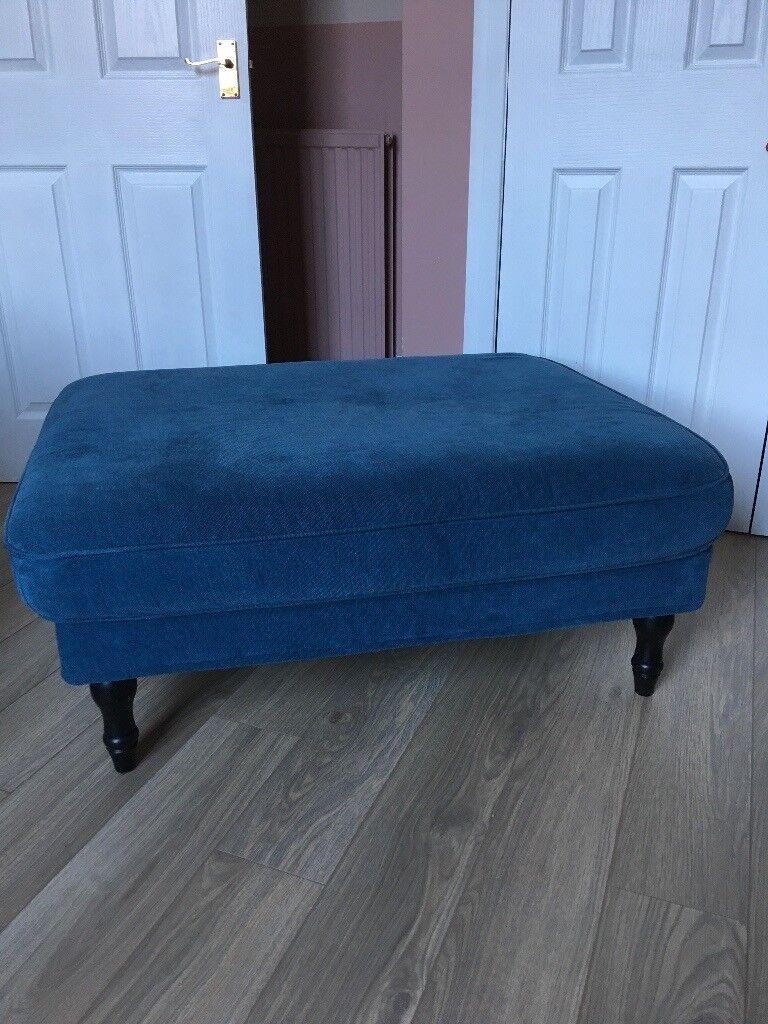 Stocksund Ikea Footstool Tallmyra Blue Great Condition