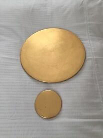 12 Gold place mats - perfect for your Christmas Table