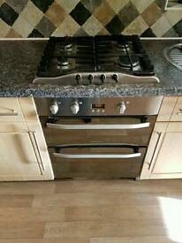 Stainless steel hob and oven