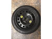 "5x120 17""BMW Space Saver. Wheel tyre e36 e39 e46 e60 e90 f30 f10 320d 330d"