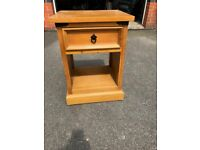 Pine cabinet with drawer