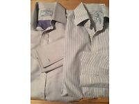 2 men's Charles Tyrwhitt shirts for cuff links