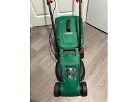 Qualcast 24v cordless lawnmower hardly used with battery and charger