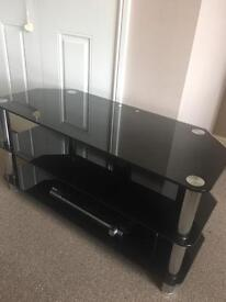 Black glass TV stand- £30