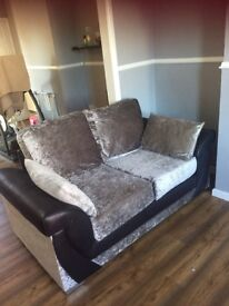 Crushed velvet sofa 3 and 2 seaters