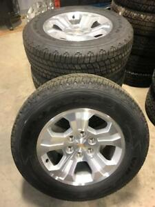"TRAX 0000 ) 4- 2016 CHEV GMC 18"" 6 bolt TAKE OFF WHEEL  AND TIRE SET $1300  set"