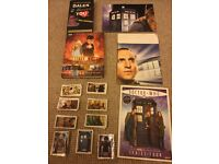 DR Who books, poster & stickers ( price is for the lot)
