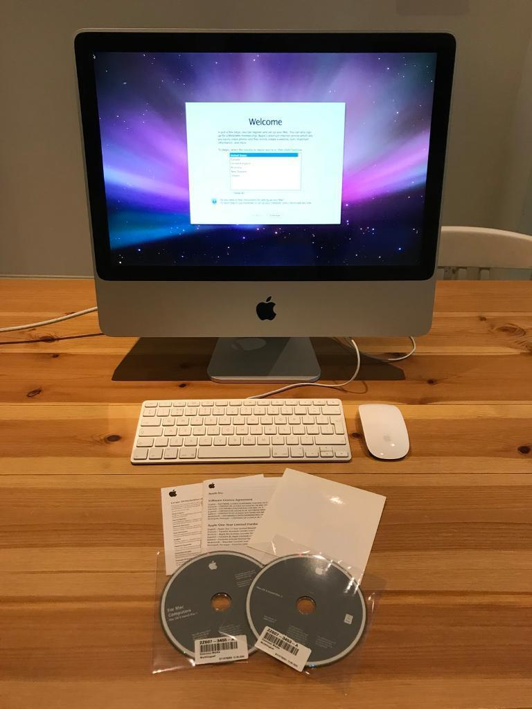 """Early 2008 20"""" iMac + keyboard and Magic Mouse"""