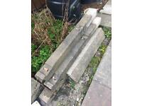 Concrete small fence posts
