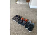 3 pairs of Clark's baby shoes (sizes 2 x 3.5G & 1 x 4F)