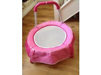Toddlers pink trampoline
