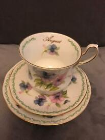 Bone China cup and saucer (August)
