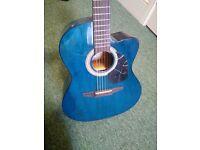 Cyan blue Bass guitar £60