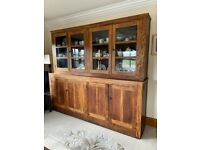 Vintage large Double cupboard Oak Wood kitchen dining dresser storage unit