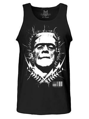 Men's Printed Frankenstein Movie Thunder Halloween Skeleton Funny MMA Tank Top - Halloween Funny Movies