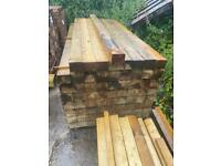 5X4X2.4M PRESSURE TREATED WOODEN LENGTHS / POSTS - NEW