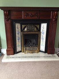 Gas Fire Mantel & Surround (Fire NOT Included)