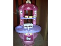 Girls Toy Kitchen Cooking Play set HELLO KITY