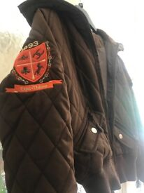 Size 6/8 brown coat / jacket (equi-theme)