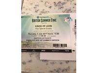 2 Kings of Leon VIP summer garden tickets