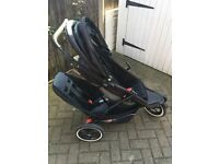 Phil and teds explorer double/single pushchair