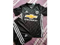 Manchester United away football shirt and shorts new with tags