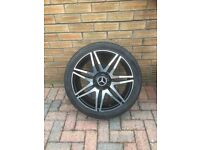 AS NEW MERCEDES ALLOY WHEELS AS NEW