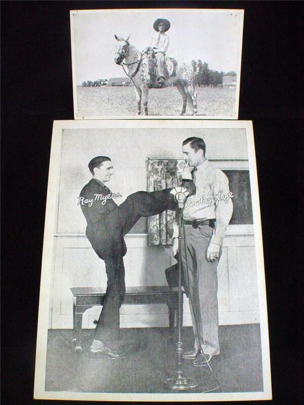 1940s WWVA Jamboree Cowboye Loye & Ray Myers Print & Arcade Card