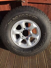 Mitsubishi Alloy Wheels and Tyres - REDUCED