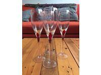4 x champagne glasses