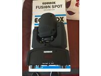 Pair of Equinox fusion Max 2 - 30w LED spot moving heads - DJ/Disco/Band