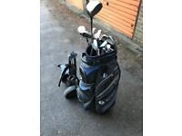 Nike golf club set with bag and trolley