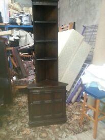 vintage carved corner shelf