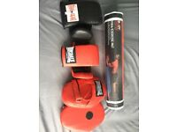Yoga exercise new mat gym lonsdale mitts boxing gloves and pads thai kick ideal fitness set