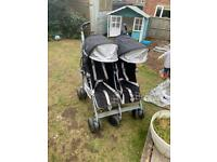 McLaren Twin Techno Double Pushchair with Carry Cot