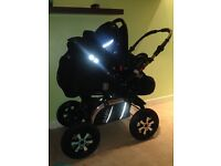 BABY MERC S6 pram and stroller including car seat