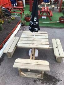Garden bench / patio seating 8 seater
