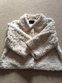Ladies short fake fur jacket