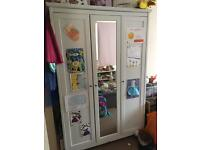 3 door wooden wardrobe