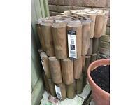 Wooden log edging rolls