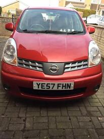 Nissan Note Acenta 2007 1.6 Manual. REDUCED