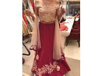 Indian Asian wedding sari 2 piece lengha Size 8
