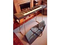Yamaha electric keyboard PSR21 with stand and carry case