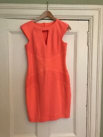 Lovely orange/peach dress from River Island size 10