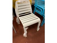 Metal garden chair - Grey