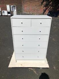 White drawer set