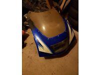 Suzuki RG125 Front Fairing and Headlight